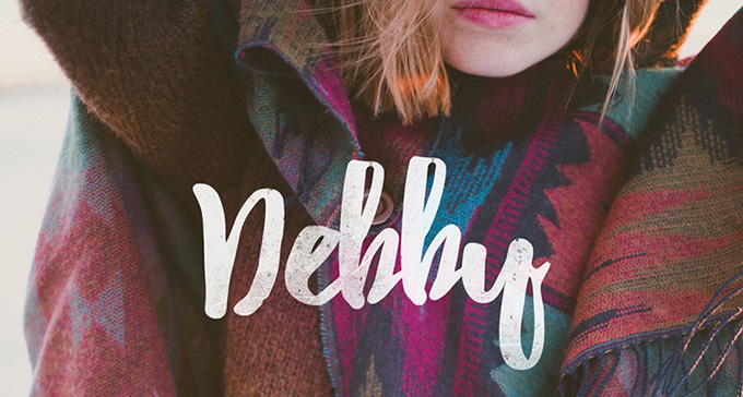 Debby is a hand-drawn brush font to make your works looks natural