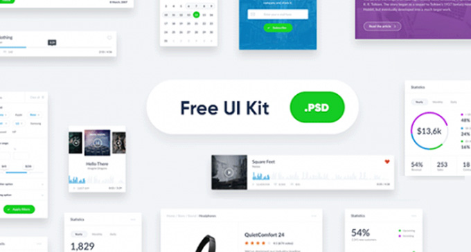 Aclean widget-style UI kit ready to use in your next design